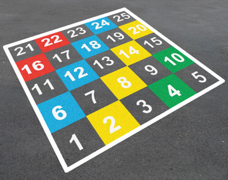 Number-Grid-1-25-Colour