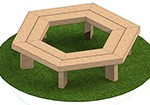 2m-Hexagonal-Tree-Seat-with-95mm-Top---Image-1 Thumb