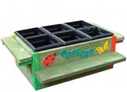 6 Box Planter Bench