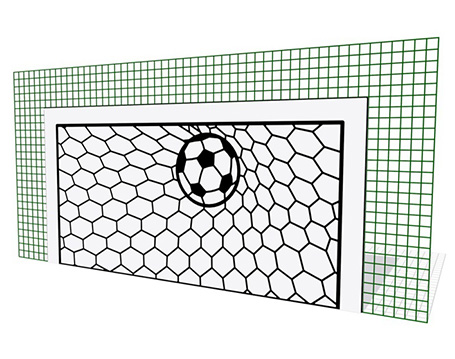 Football Goal - Mesh Mounted