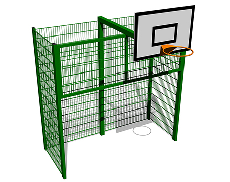 Recessed Goal End with Basketball