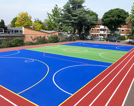 Painted Sports Courts