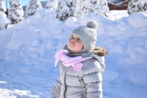 playing outside in winter