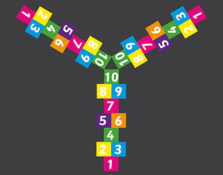 3 Way Hopscotch