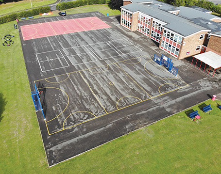 Reline Existing Sports Courts
