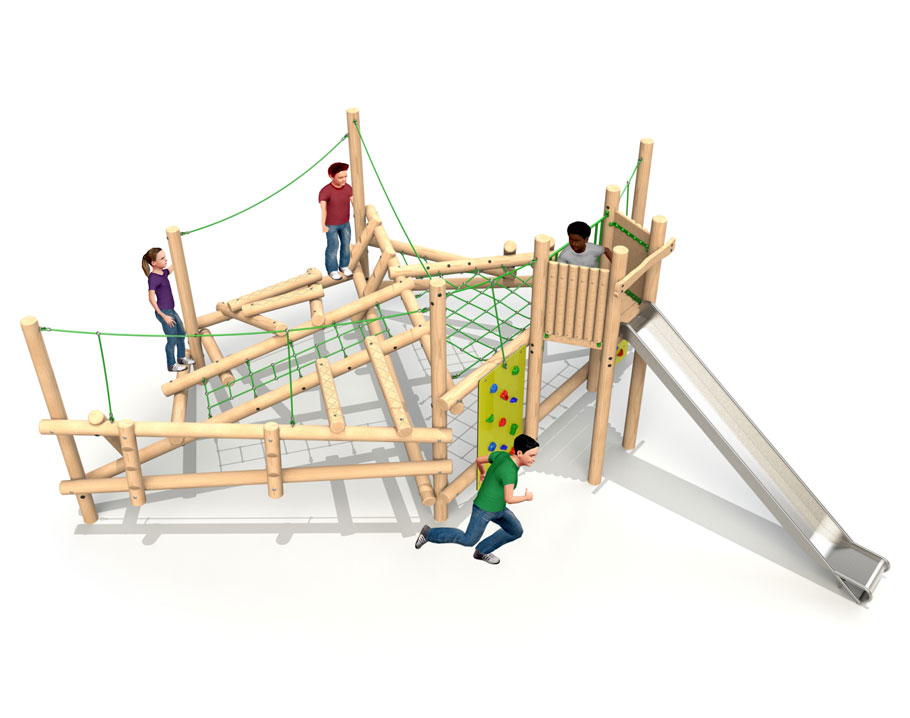 Forest Climber 5 with Deck and Slide